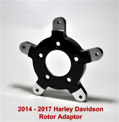 2014 & up harley davidson front rotor adapter